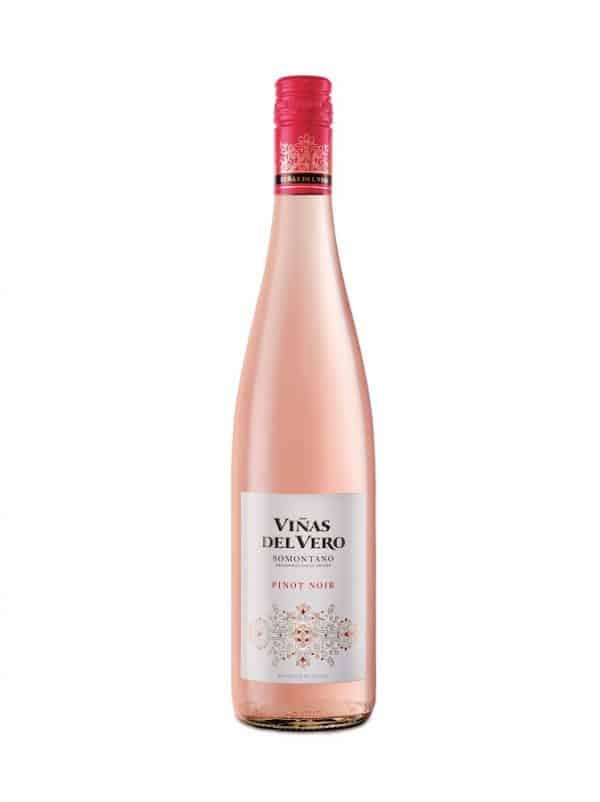 Vino Viñas del vero rosado pinot noir de la DO somontano en restaurante trasiego de barbastro
