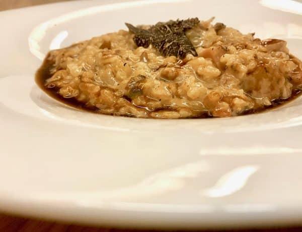 risotto - arroz de setas y trufa negra - restaurante trasiego barbastro